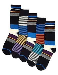 5 Pairs of Freshfeet™ Welt Striped Ankle High Socks £4 free delivery to store at marks and spencers , buy one get one half price from 9 Jan
