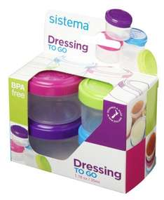 Sistema Pots to Go Dressing, Pack of 4, £1.99 & FREE Delivery in the UK on orders over £10 @ amazon