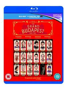 The Grand Budapest Hotel [Blu-ray] £8 at Amazon  (free delivery £10 spend/prime)