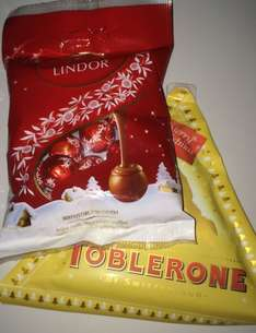 Toblerone Triangle and Lindor Balls 10p each in Sainsbury's