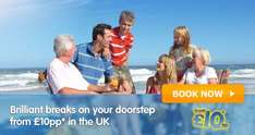 BreakFree Holidays From £10 pp and Book NOW (all codes in OP, no papers to buy)