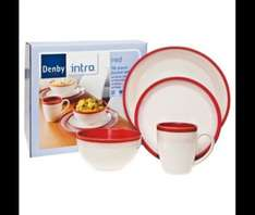 Denby Intro 16 Piece, 4 Person Dinner Set, Red @ TescoDirect £35 WAS £80