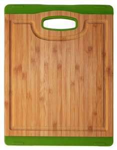 Totally Bamboo Chopping Board with Channel Silicon Green £3.73  (Add-on item Free Del £10 order) @ Amazon