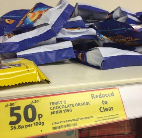 Terry's Chocolate Orange Minis Bag 50p @ TESCO