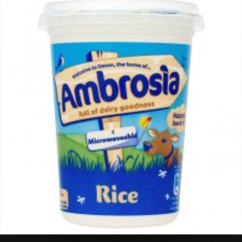 500g ambrosia rice pudding 49p @ Quality Save