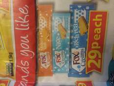 foxs creams - rich tea/nice/ malted milk 29p per pack at farmfoods