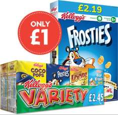 Kellogg's frontiers and variety packs £1 @ nisa