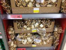 50 gold gift bows for 20p! RRP was £2 at Sainsburys