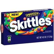 113g boxes of Skittles the dark side only 99p @ B&M