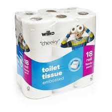 Wilko Embossed Toilet Tissue 18pk, £3 @ Wilkinsons, online & instore