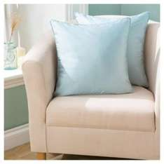 ** Faux Silk Cushion 43 x 43cm Eau De Nil (Pack Of 2) only £3.50 @ Tesco Direct **