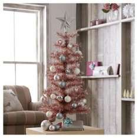 Pink 3ft Christmas Tree £1.25  @ Tesco Direct