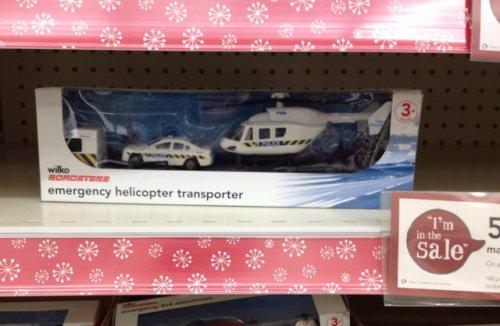 Emergency helicopter transporter £2 @ Wilkinsons