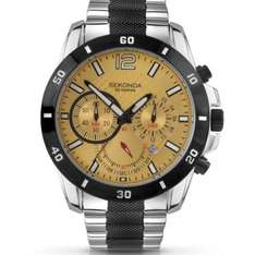 Sekonda Men's Yellow dial watch with stainless steel bracelet. Was £89.99 now £38.99. (£31.19 with 20% off fashion code) @ Amazon.co.uk