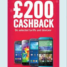 Carphone warehouse £200 cash back on smartphones/tariffs. (only pay monthly and upgrades)