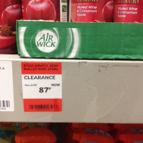 Airwick 4-1 aerosol - mulled wine & cinnamon apple 87p @ B&Q