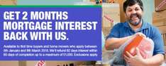 Get First Two Months of Interest back (Up to £1000) from your Mortgage @ Halifax