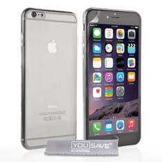 iPhone 6 / 6 plus YouSave clear gel case with screen protector £3.90 delivered by Mobile Madhouse