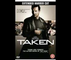 """Taken 1 and Taken 2 """"Extended Harder Cut"""" DVDs £3 each delivered from Tesco Direct"""