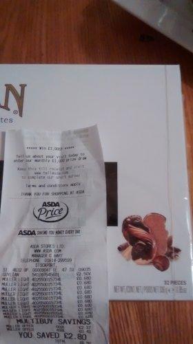guylian chocolate 336gm £2.50 @ asda
