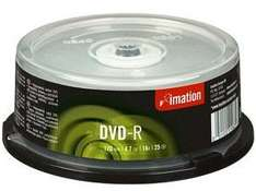 ** Imation TDK DVD-R 16x Spindle, Pack of 25 now £1 @ Staples **