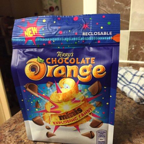 Terry's chocolate orange exploding candy 136g 50p  @ tesco