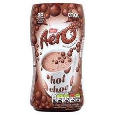 Aero Instant Chocolate or Mint Chocolate Drink (288g) was £2.39 now £1.19 @ Tesco