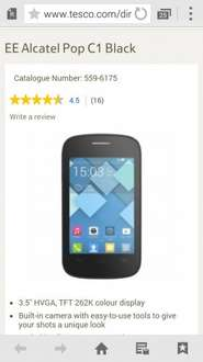 2 ×  Alcatel Pop C1 (Black) on EE from Tesco for £40 after code and 2 × free £10 Sim Card