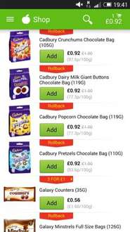 Cadbury giant buttons now 92p at ASDA plus other choccy goodies