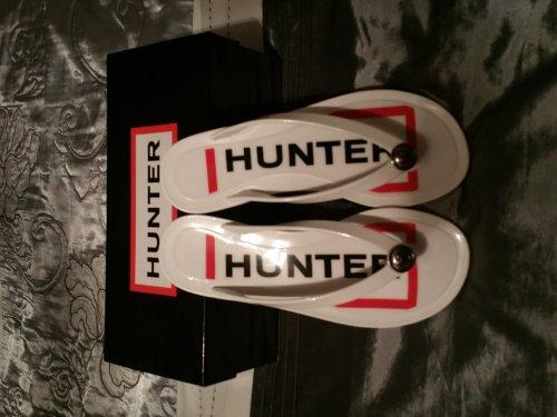 Hunter Sanford White Hunter Sandals £9.99 Delivered @ Legend Footwear
