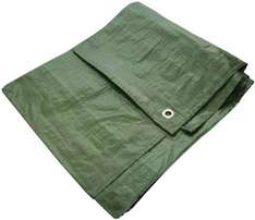 AM TECH GREEN TARPAULIN 6' X 4' £1.69 @ Amazon Dispatched from and sold by mspackaging