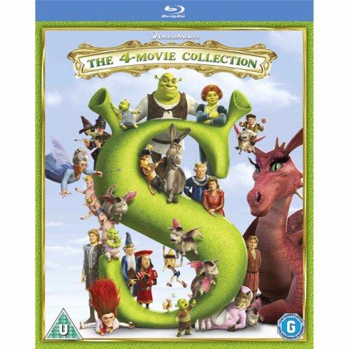 Shrek 1-4 blu ray £16.60 delivered at Amazon