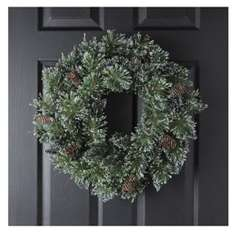 VERY sparkly Christmas Sparkle Wreath decoration Tesco £6.25 (free click and collect)