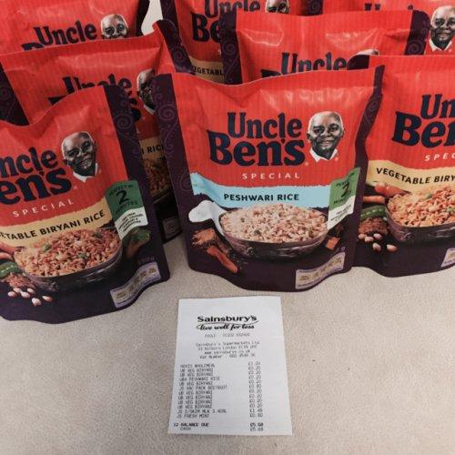 Uncle Bens Express Peshwari and Vegetable Biryani Rice reduced to 20p @ Sainsbury's