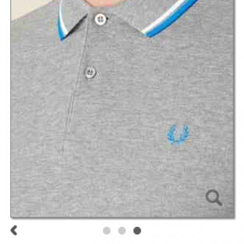Fred Perry Grey twin tipped pique polo shirt £33 @ Debenhams was £55