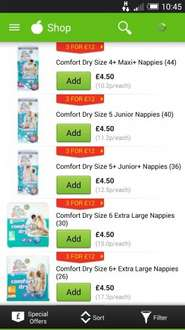 Asda nappies  now £4.50 a pack  or 3 packs for £12