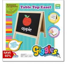 Giggles  Wooden table top easel with chalk and eraser was £20 now £8, free c+c @ Debenhams