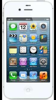 Apple iPhone 4S Refurb (White SIM Free) @ Mobile Phones Direct - £136.99