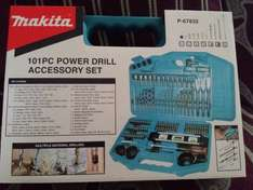 Makita 101pc power drill accessory set P-67832 £20 @ B&Q