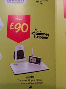 tommee tippee video monitor £90 asda baby event 19/01/2014