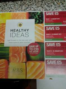 £5 off a £25 spend  in the foodhall  throughout January at M&S