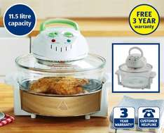 17 litre Halogen Oven £24.99 with 3 year warranty @ ALDI from sunday