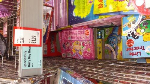 Little wind up books (train, tractor and car) £1.99 at Aldi