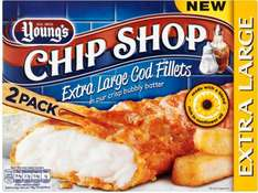 Youngs Chip Shop 2 Extra Large Cod (54%) Fillets (320g) was £4.00 now £2.00 @ Tesco