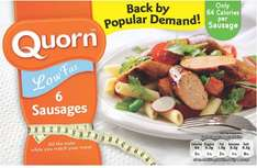 Quorn Low Fat Sausages (6) (300g) was £1.99 now 98p (Rollback Deal) @ Asda