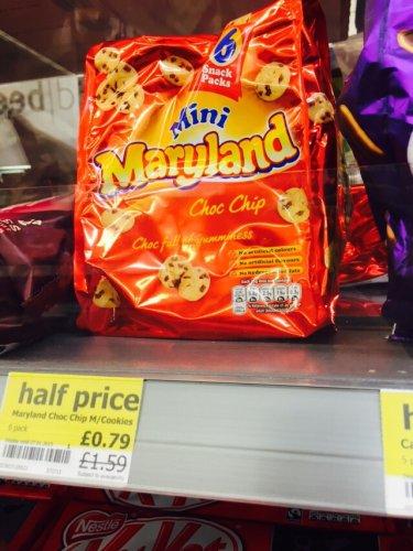 Cadburys mini finger & mini Maryland cookie multi packs half price at one stop.  79p pack