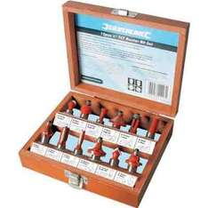1/2 inch router bit set 12pc £7  (free delivery £10 spend/prime) @ Amazon