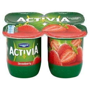 Activia strawberry yogurts 4x125g HALF PRICE 92p @ Waitrose