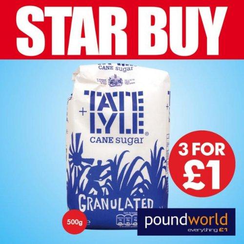 3 x 500g Tate & Lyle Sugar for £1.00 @ Poundworld
