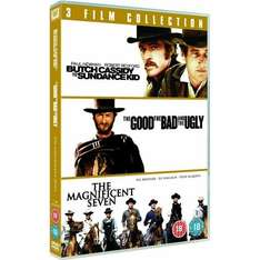 Butch Cassidy & The Sundance Kid / The Good The Bad And The Ugly / The Magnificent Seven 3 film DVD Box Set (region 2) £4.00 delivered @ play.com / FoxDirect